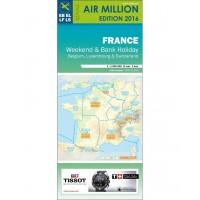 VFR Chart 2016 France / Belgium / Luxembourg / Switzerland WEEKEND
