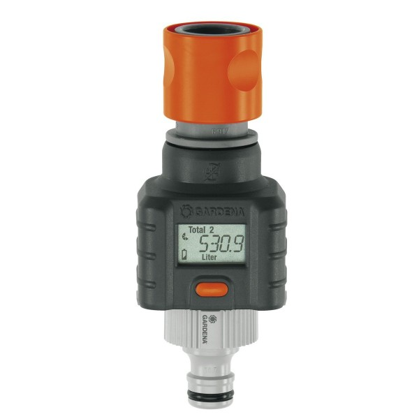 Electronic Water Meter Data Log : Gardena digital water flow meter