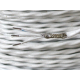 Aviation grade wiring TEFZEL 22AWG 3 wire shielded, white
