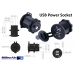 Panel mounted USB Power Socket