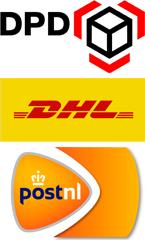 We ship with DPD, DHL for You and PostNL